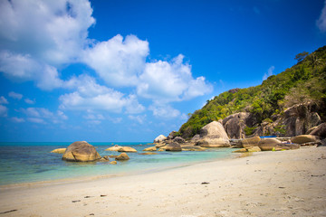 Tropical beach in Thailand on Koh Samui