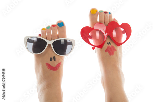 canvas print picture Happy summer feet