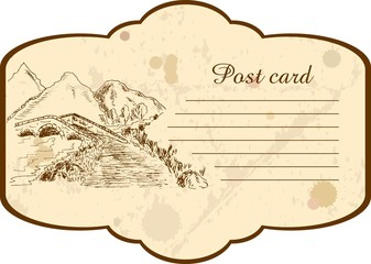 Postcard with a bridge