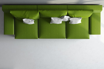3d render ofgreen couch