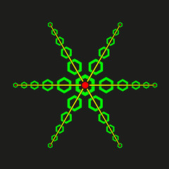 Acid snowflake