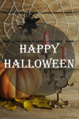 Halloween decoration with spider