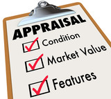 Appraisal Words Checklist Clipboard Factors Condition Market Val poster