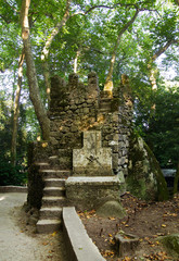 Watchtower in Sintra forest. Portugal