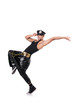 Man dancer isolated on the white background