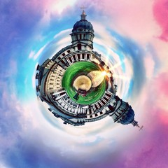 London monuments circular abstract panorama