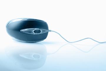 blue computer mouse
