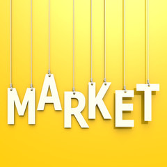Market  word in yellow background