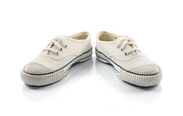 White sport shoes