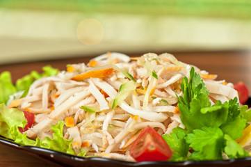 Salad with calamary