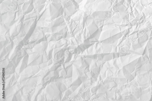 canvas print picture White crumpled paper texture