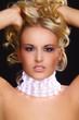 canvas print picture - Blonde Schönheit