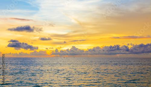 Obraz sea and sunset