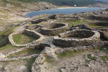 Castro de Baroña, Porto Do Son, La Coruña, Galicia, Spain.