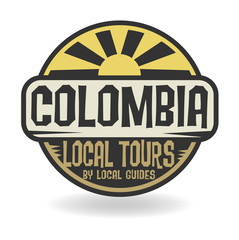 Abstract stamp with text Colombia, Local Tours