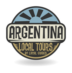 Abstract stamp with text Argentina, Local Tours