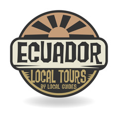Abstract stamp with text Ecuador, Local Tours