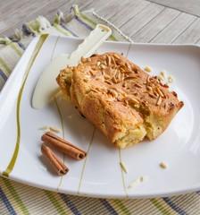 Cinnamon Almond chip sponge cake