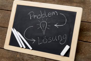 Problem und Lösung mit Tafel