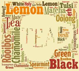 Tea word cloud