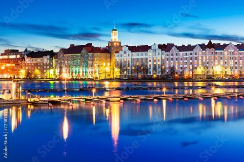 obraz PCV Wieczorem dekoracje Helsinki, Finlandia