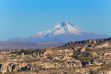 Cappadocia landscape, view to Erciyes Mountain