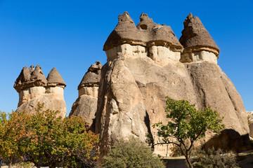 Cappadocia Turkey, volcanic rock landscape.