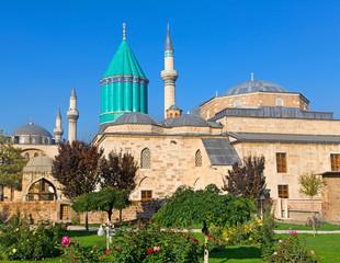 Mevlana museum mosque in Konya, Turkey.