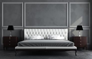 3d render of classic room