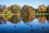 Autumn at Skaryszewski Park in Warsaw - 72489118
