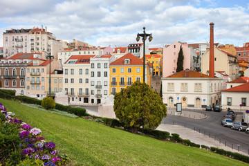 City of Lisbon Urban Scenery in Portugal