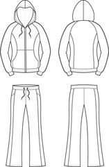 Vector illustration of women's sport suit