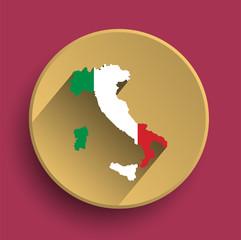 Italy flat icon