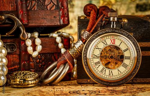 Vintage pocket watch - 72489783