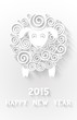 Abstract New Years Sheep 2015 year symbol