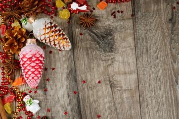 Christmas wooden frame