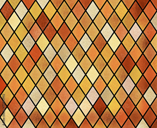 abstract stained glass window background - 72490992