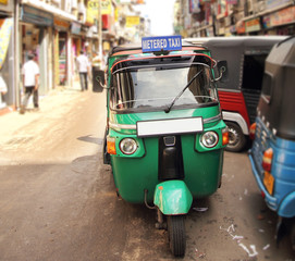 tuk tuk taxi on the street