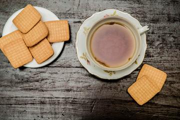 colazione, biscotti e thè