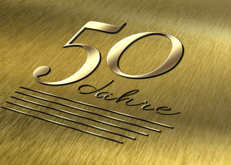 50 JAHRE Gold Metall
