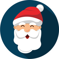Vector Santa Claus Head