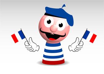 stereotipo francese, francia, francese, personaggio
