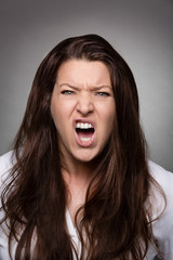 woman faces dark - fury
