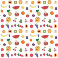 Fruit seamless pattern background