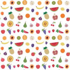 Fruit seamless pattern background