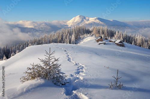 Winter in the mountains - 72492948