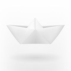 Origami paper boat.