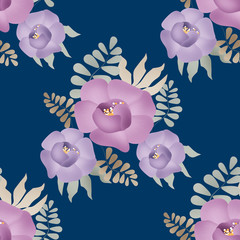 Flowers retro abstract seamless pattern texture background