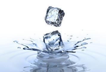 2 Eiswürfel mit Splash 2