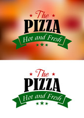 Pizza sign or label